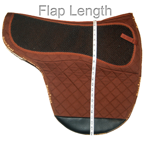 How To Measure Saddle Pad - Flap Length