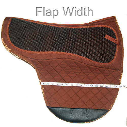 How To Measure Saddle Pad - Flap Width