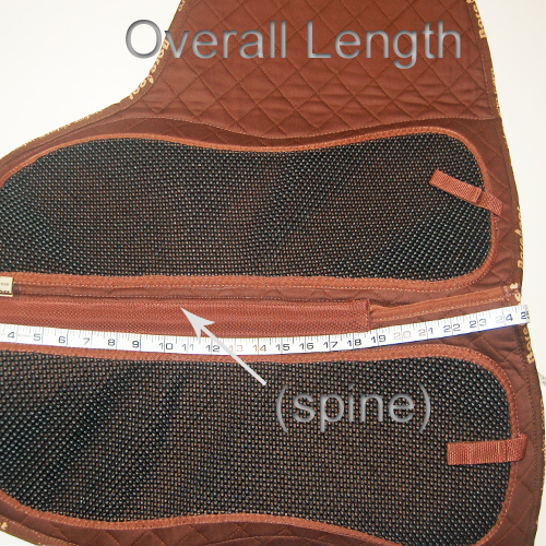 How To Measure Saddle Pad - Length