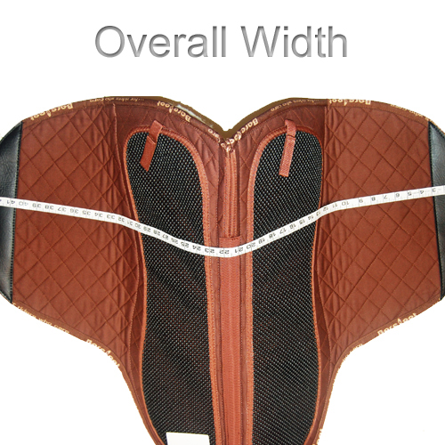 How To Measure Saddle Pad - Width